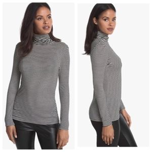 WHBM | Striped Long Sleeve Turtle Neck